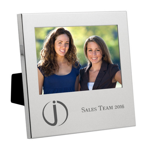 Silver 4x6 Engraved Corporate Picture Frame