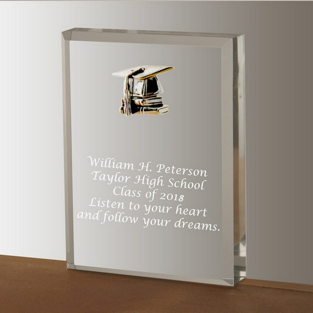 Silver Graduation Acrylic Keepsake