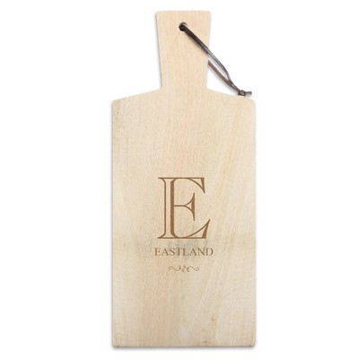 Small Monogrammed Mango Wood Cutting Board