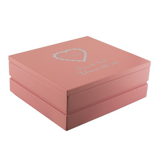 Small Wonders Engraved Pink Jewelry Box