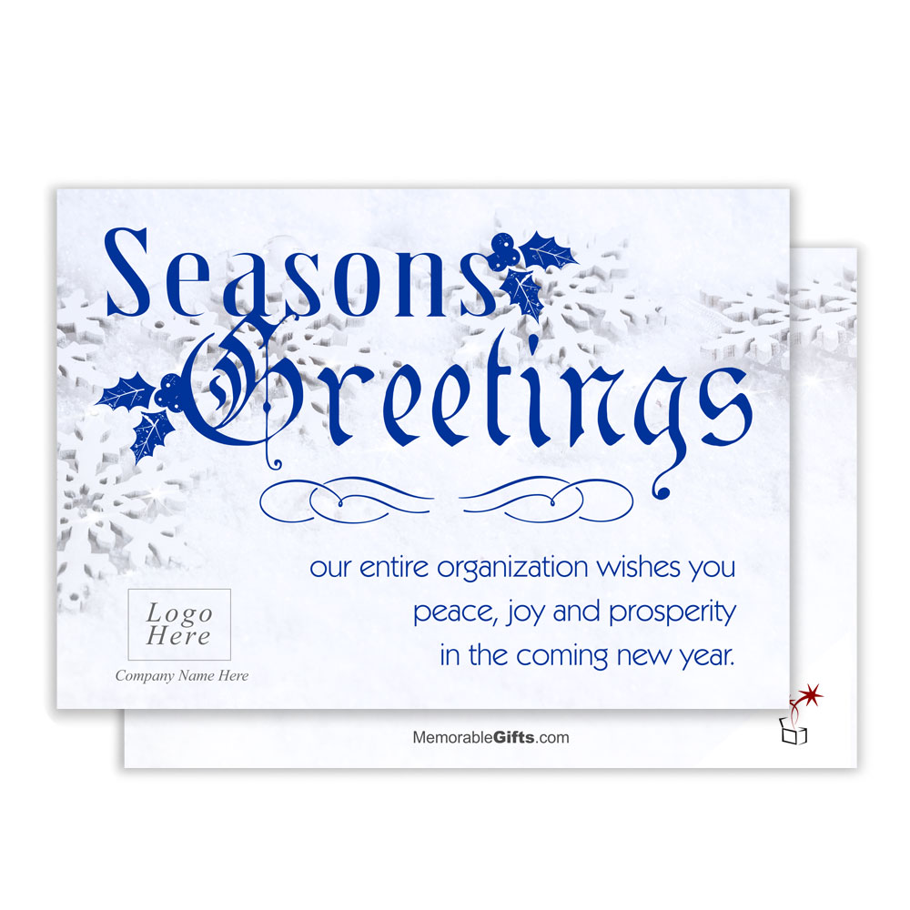 Seasons greeting corporate holiday card snowflake seasons greeting corporate holiday card kristyandbryce Gallery