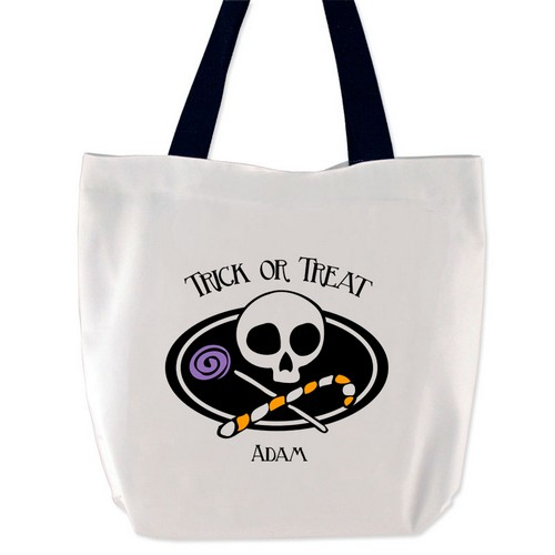 Spooky Trick or Treat Personalized Tote Bag
