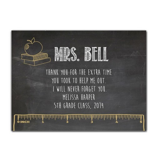 Teachers Chalkboard Custom Decorative Wall Panel