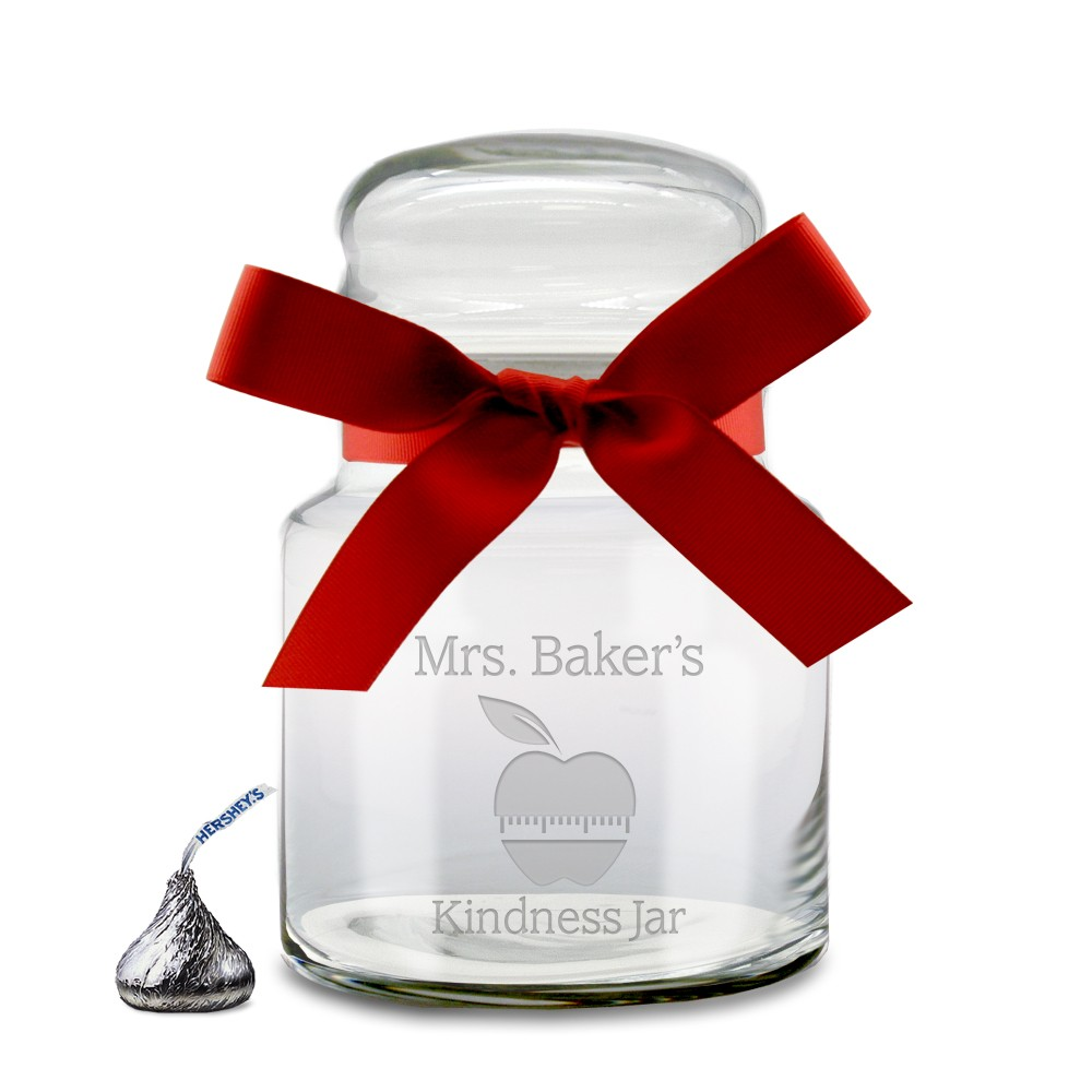 Teachers Desktop Glass Candy Jar