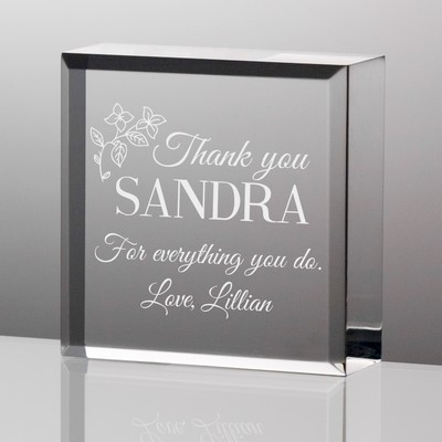 Thank You Desk Paperweight Plaque