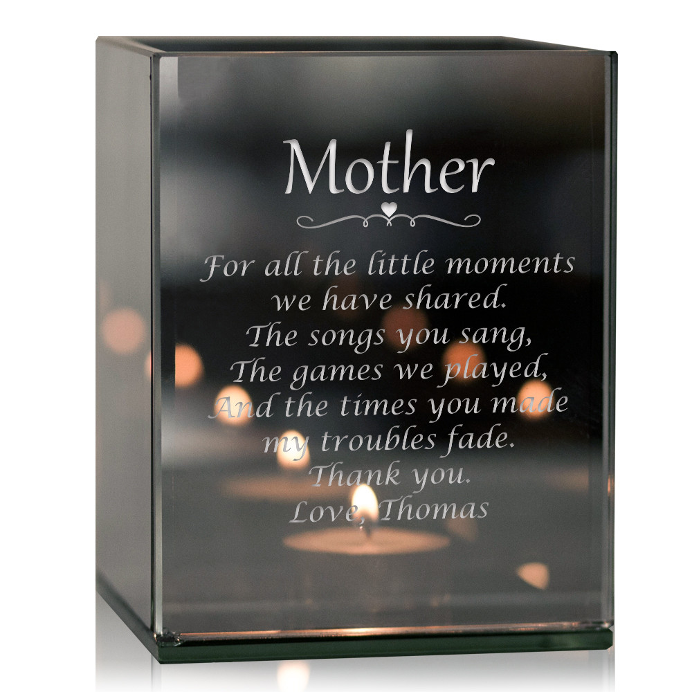 Thank You Mother Personalized Tealight Candle Holder Unique Glass