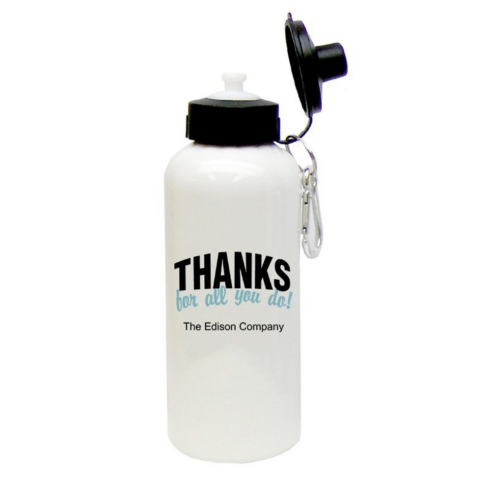 Thanks for all you do personalized aluminum water bottle Thanks for all you do gifts
