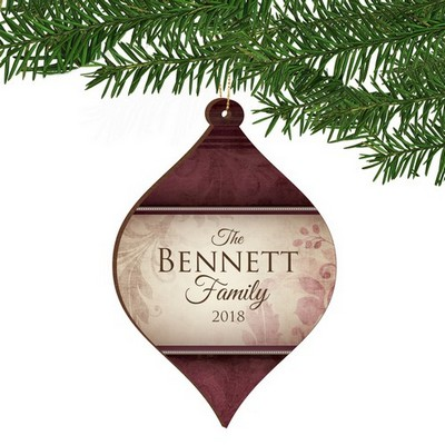 The Family Personalized Wood Christmas Ornament