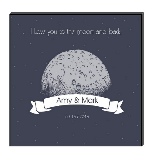 To the Moon and Back Personalized Art Panel