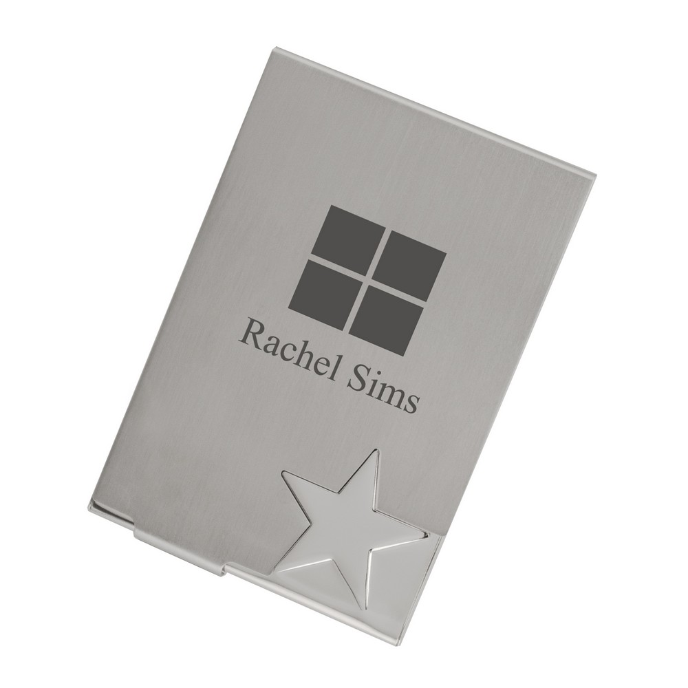 Top Star Silver Business Card Case