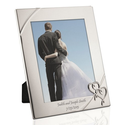 Personalised Photo Frame Wedding Gift: True Love Personalized 8x10 Photo Frame By Lenox