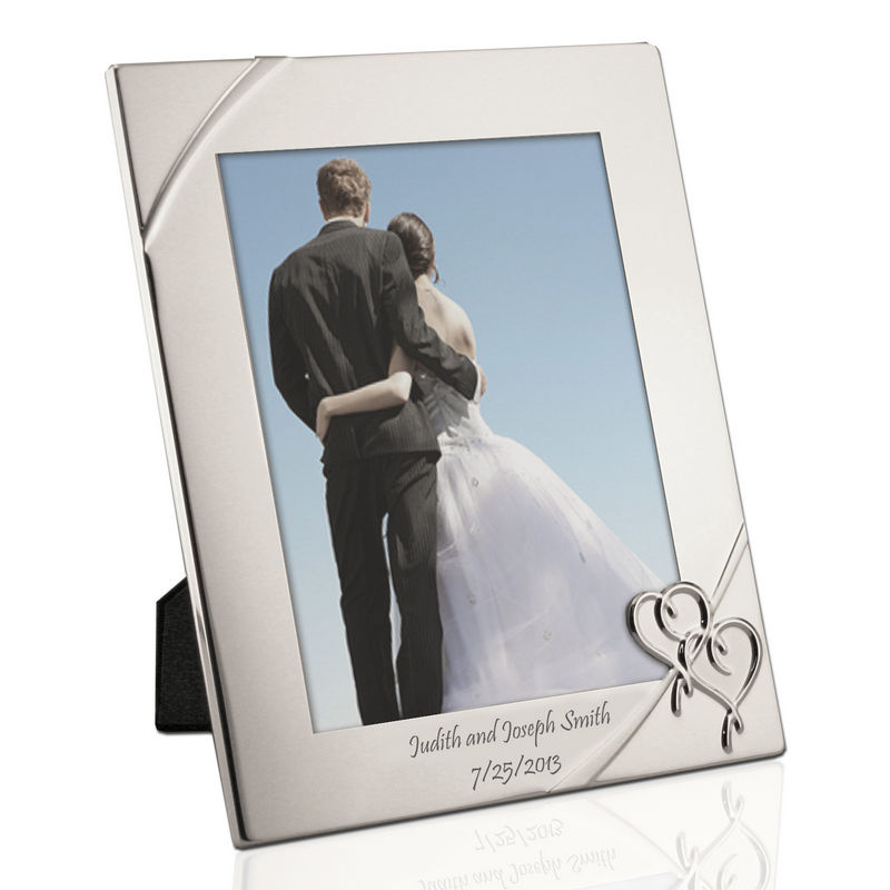 Personalized Silver 8x10 Picture Frame