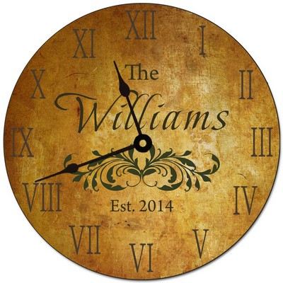 Tuscany Personalized Family Name Wall Clock