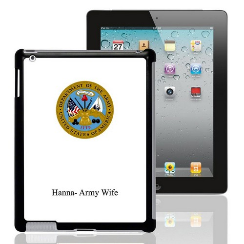 US Army Personalized iPad Case