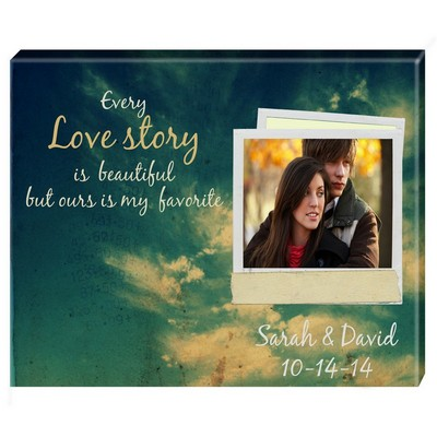 Personalized Love Story Photo Wall Canvas