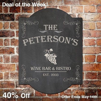 Wine Bar and Bistro Custom Wall Decor