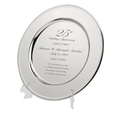 Very Special Personalized 25th Wedding  Anniversary Silver Plate