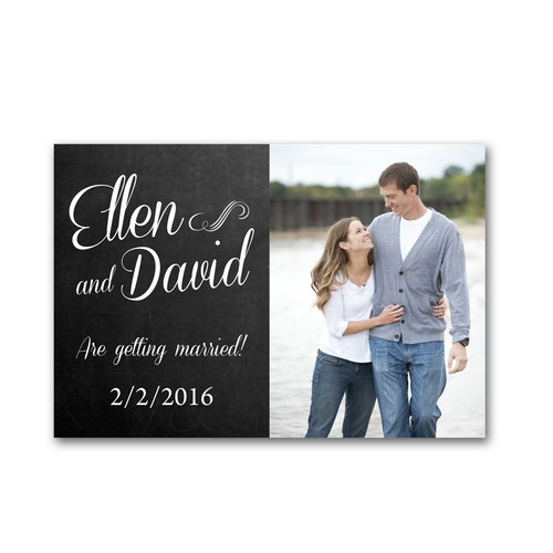 Simply Script 4x6 Wedding Announcement Cards