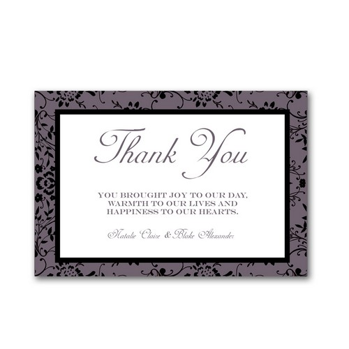 Classic Type 4x6 Wedding Thank You Cards