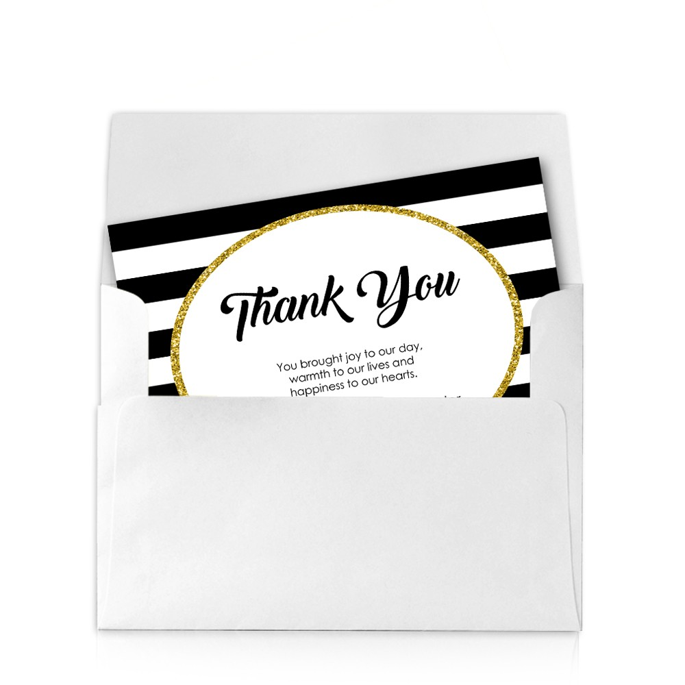 Glam X Wedding Thank You Card - 4x6 thank you card template