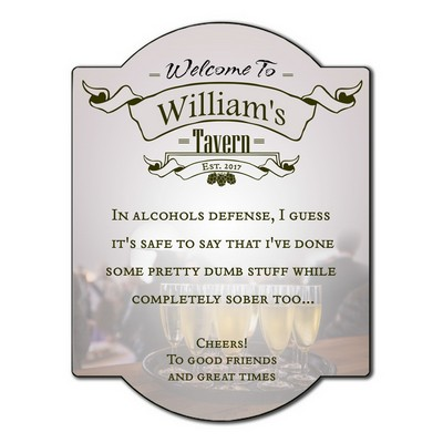 Welcome To My Tavern Personalized Wall Sign
