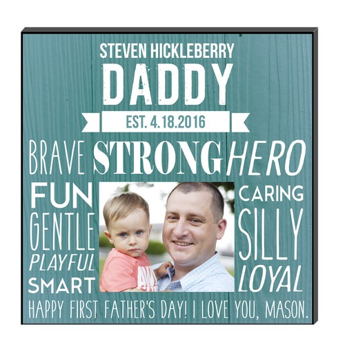 What Makes Daddy Great Personalized Photo Wall Panel