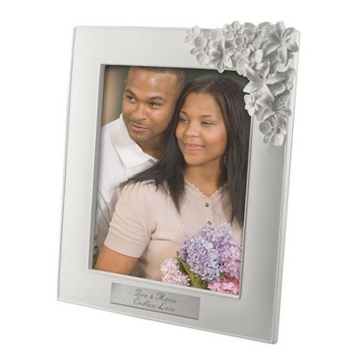 White Orchid Personalized 8x10 Photo Frame