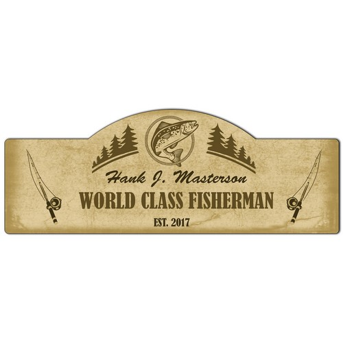 World Class Fisherman Personalized Sign