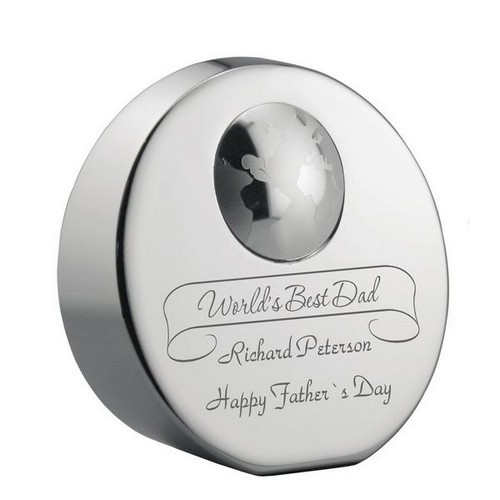 World's Best Dad Customized Paperweight