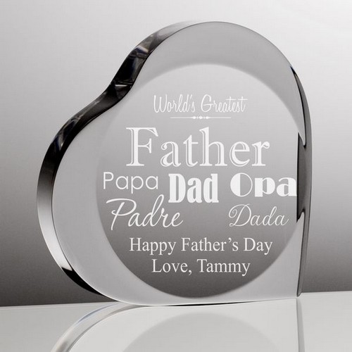 Worlds Greatest Father Heart Plaque
