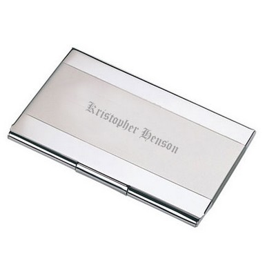 Elegant Pocket Two Tone Personalized Business Card Holder