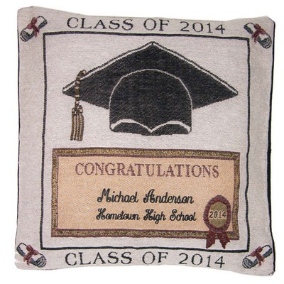 Class of 2014 Personalized Tapestry Pillow