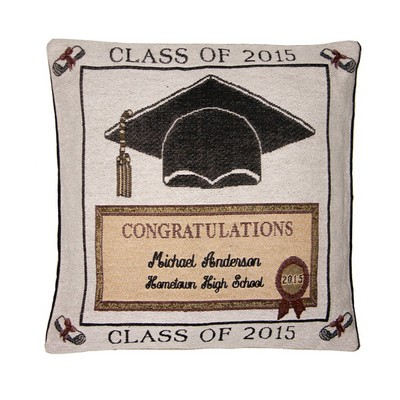 Class of 2015 Personalized Tapestry Pillow