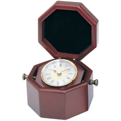 Personalized Rosewood Finish Captain Clock
