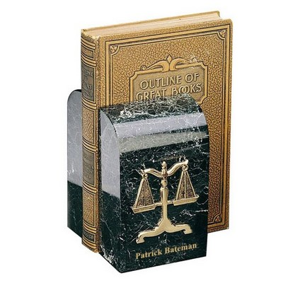 Gold Plated Marble Legal Scales Bookends