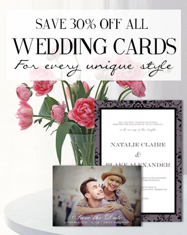 Personalized Wedding Cards & Stationary